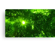 Green Wood Serie n°3 Canvas Print