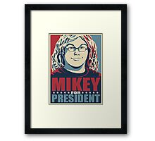 Mikey for President Framed Print
