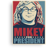 Mikey for President Canvas Print