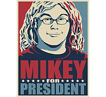 Mikey for President Photographic Print