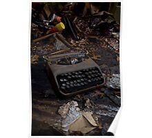 Old School Typewriter Poster