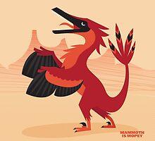 Vainglorious Velociraptor Tote by David Orr