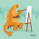 Artistic Ankylosaurus tote by David Orr