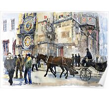 Prague Old Town Square Astronomical Clock or Prague Orloj Poster