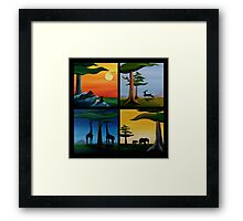 Four Squares Framed Print