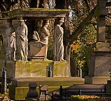 Kensal Green Cemetery in colour. by Dave Hare