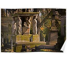 Kensal Green Cemetery in colour. Poster