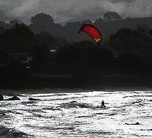 Surfers, Coles Beach NW Tasmania by Kristi Robertson