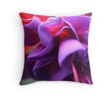 Pink & Purple Fuchsia Flower closeup Throw Pillow