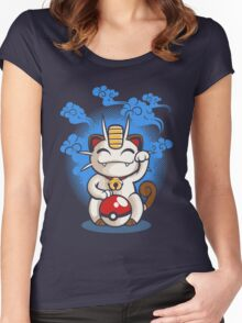 Lucky Meowth Women's Fitted Scoop T-Shirt