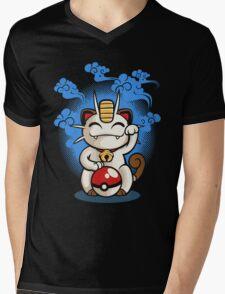 Lucky Meowth Mens V-Neck T-Shirt