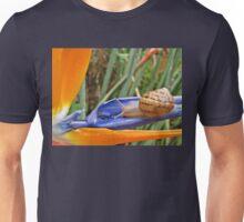 Snail on Strelitzia juncea Unisex T-Shirt