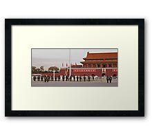 Flag Raising Framed Print