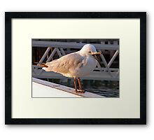 now I was saying... Framed Print