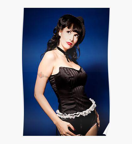 Samantha Gangster PinUp Doll Poster