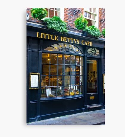 Little Betty's Cafe Canvas Print