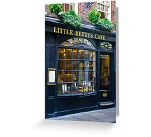 Little Betty's Cafe Greeting Card