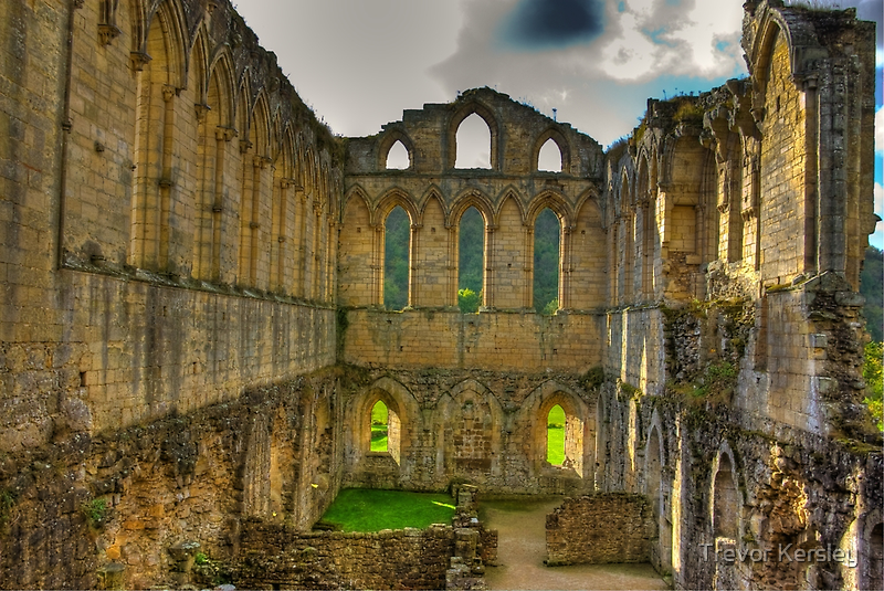The Refectory - Rievaulx Abbey by Trevor Kersley