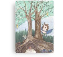 Faerie and troll fantasy art Canvas Print