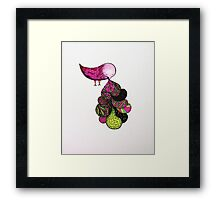 and your bird can puke Framed Print