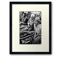 Whos winning? Framed Print
