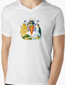 Coat of Arms of the British Antarctic Treaty Mens V-Neck T-Shirt