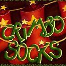 Crimbo-Socks Christmas Cards by Sybille Sterk