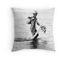 Balinese Fisherman Throw Pillow