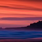 Red Dawn - Bamburgh Castle by David Lewins