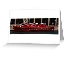 Ready and Waiting...Fire Boat.... Greeting Card