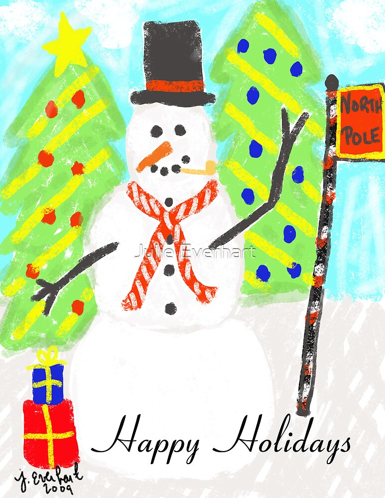 Happy Holidays Snowman Card by Julie Everhart