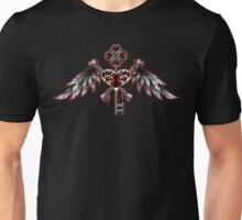 Red Key Heart Unisex T-Shirt