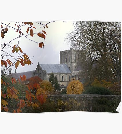 winchester cathedral...autumn Poster