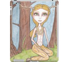 Golden Fawn, fantasy big eyes satyr iPad Case/Skin