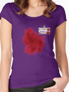Purple Guy Name Tag Women's Fitted Scoop T-Shirt