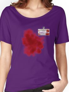Purple Guy Name Tag Women's Relaxed Fit T-Shirt