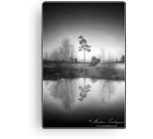 Monochrome Sunrise Canvas Print