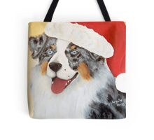Christmas ~ Australian Shepherd ~ oil painting Tote Bag