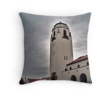 Boise Depot On A Blustery Day Throw Pillow