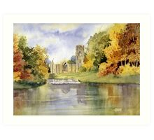 Fountains Abbey, Yorkshire Art Print