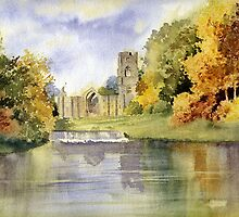 Fountains Abbey, Yorkshire by artbyrachel