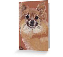 Pomeranian Vignette Greeting Card