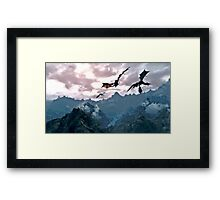 dragon over the mountain Framed Print
