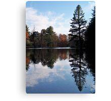 Mirror of Autumn Canvas Print