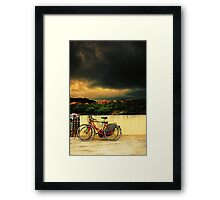 Under an ominous sky Framed Print
