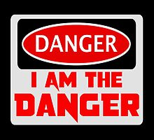 "DANGER ""I AM THE DANGER"", FUNNY FAKE SAFETY SIGN by DangerSigns"