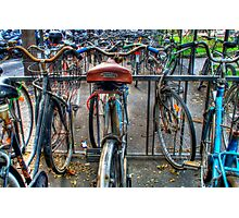 Parking of bicycles  Photographic Print