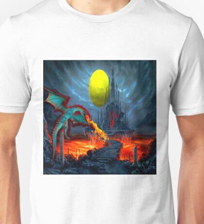 Dragon Blasting Castle Black Unisex T-Shirt