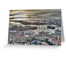 Genoa Port Greeting Card