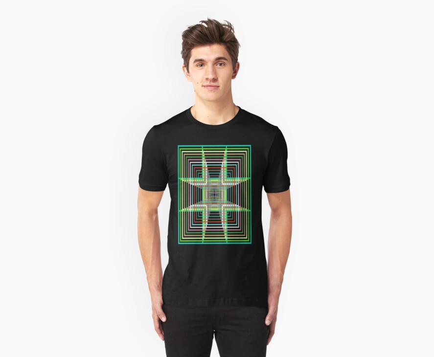 Square Maze T-Shirt by simpsonvisuals